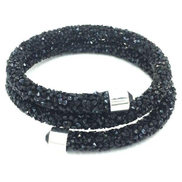 Double sparkle dust cuff bracelet kit- black